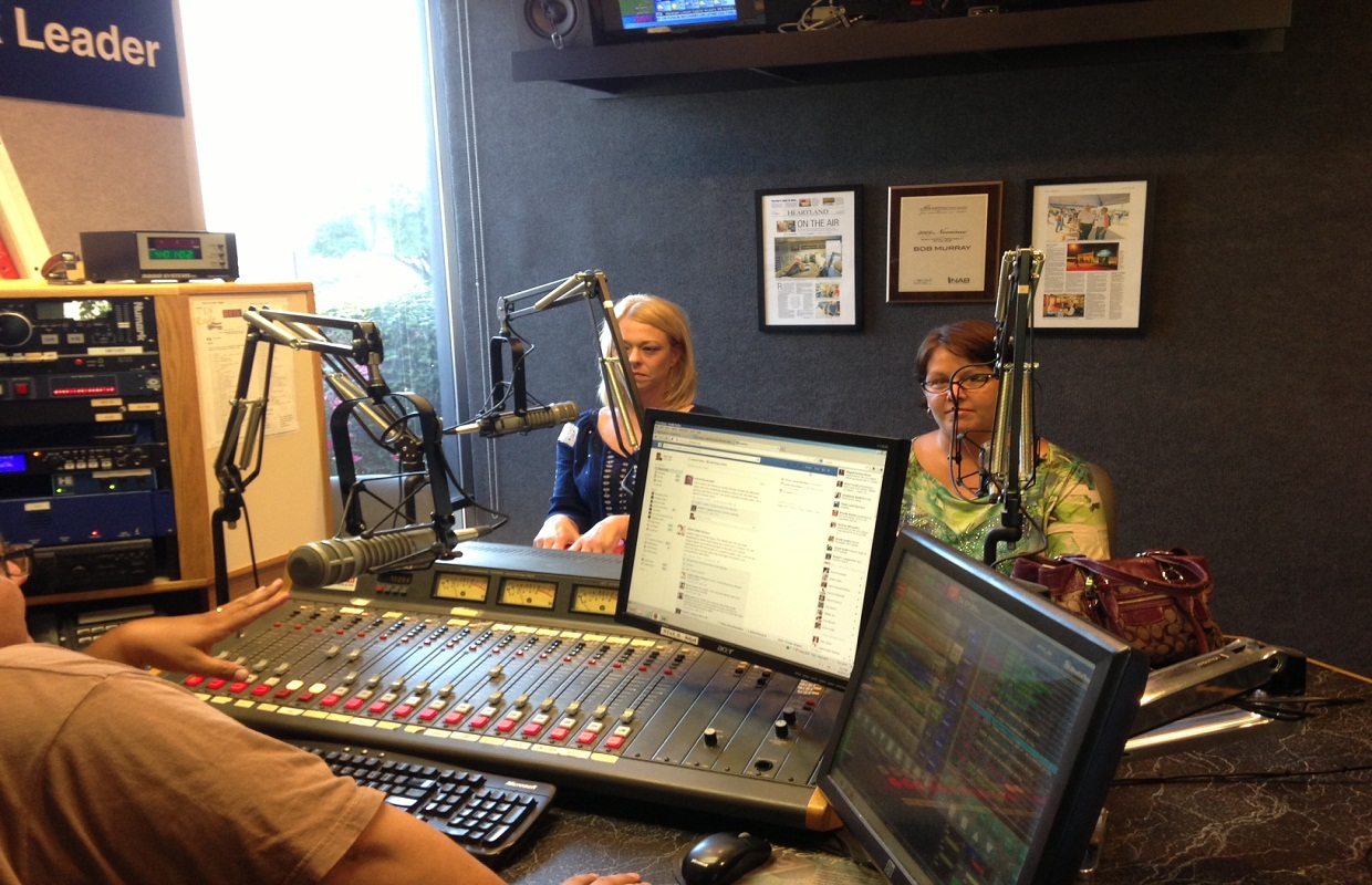 Tracy McCall, left, and Missy Whitley, right, join WTAX's Ray Lytle Show on Tuesday Aug. 20, 2013
