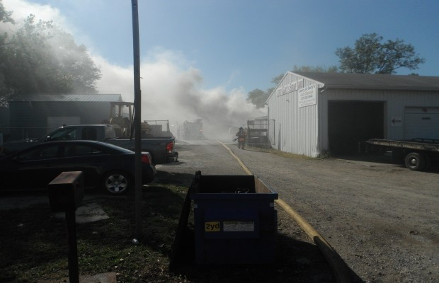 Salvage Yard Fire Briefly Closes Terminal Ave.; Fire Truck Crashes En Route