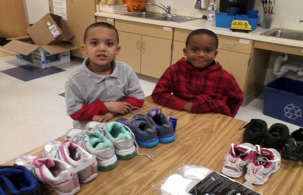 New Shoes + Kids = Smiling Faces