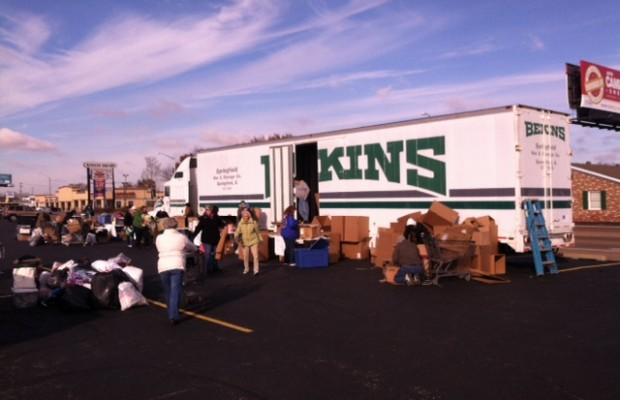 Springfield Citizens Gather Supplies for Washington Victims