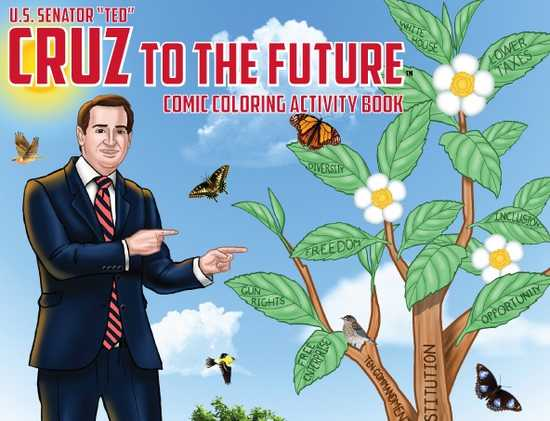 picture of Ted Cruz Coloring book