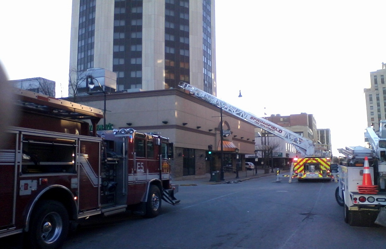 Minor Damage Reported in Downtown Springfield Hilton Fire