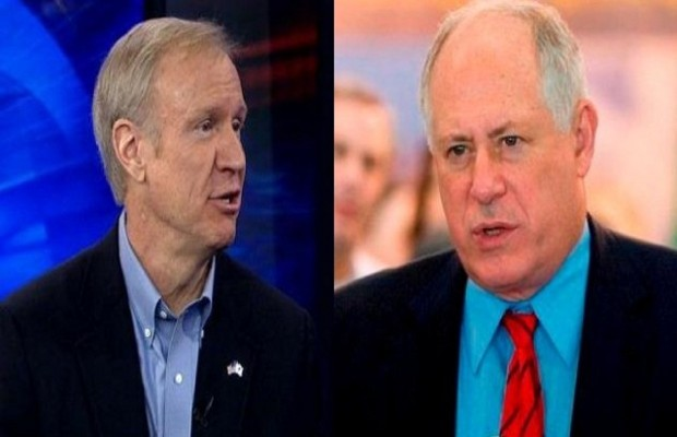 Quinn, Rauner Spar Over Education
