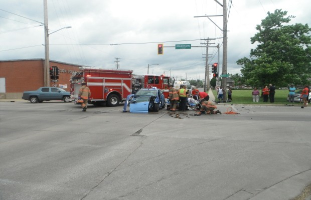 Traffic Accident Sends One to Hospital