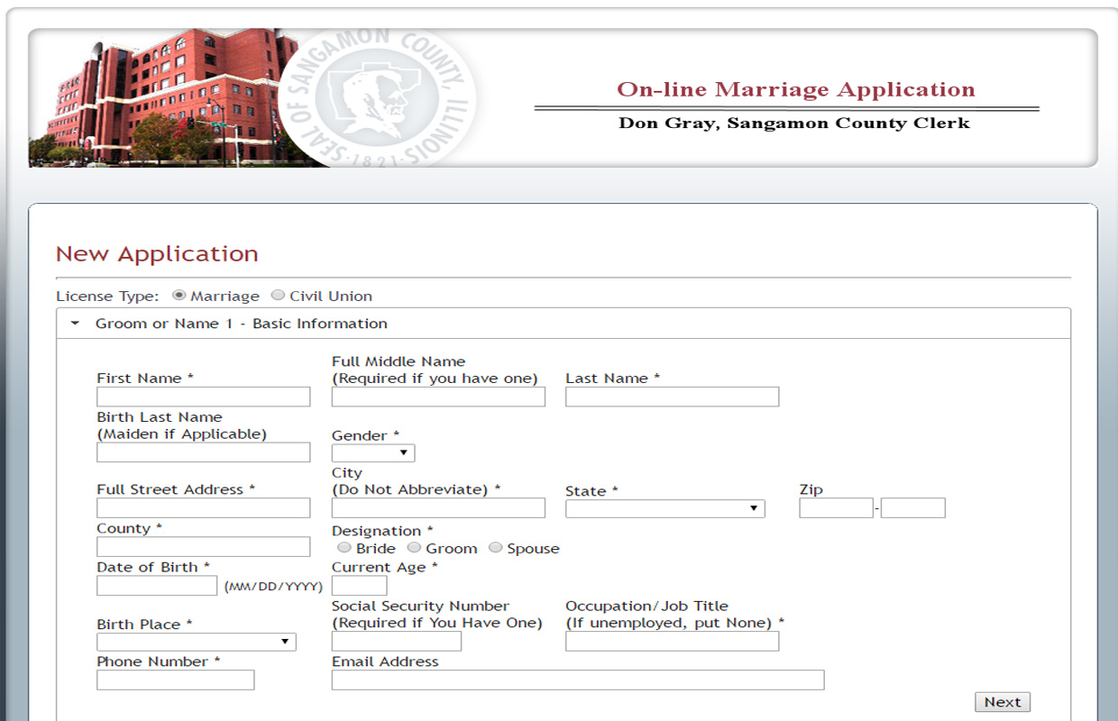 Sangamon County Clerk Starts Online Marriage License Applications